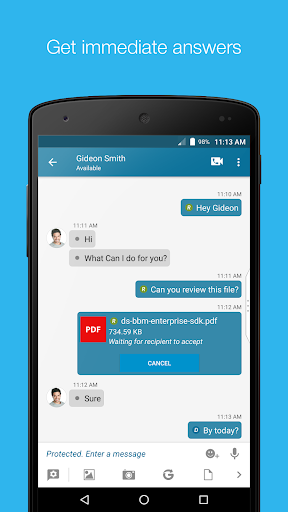 Download free BBM Enterprise 1 6 0 8 APK for Android