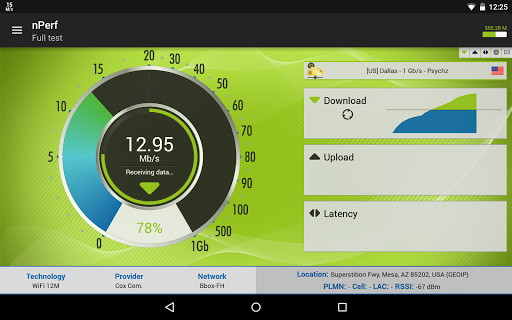 Speed Test & QoS 3G 4G WiFi free download for Gionee F103, APK 2 2