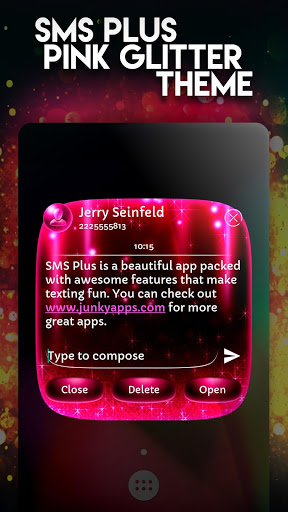 Download free SMS Plus Cute Pink Glitter Girly Theme 1 0 32