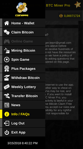 Download free Bitcoin Claim Free - BTC Miner Pro Earn 2 0 APK for