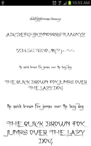 Gothic Fonts for FlipFont free free download for Vivo V5