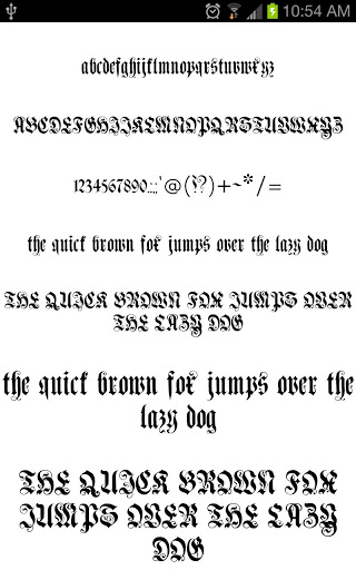 Gothic Fonts for FlipFont free free download for Vivo V5