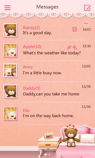 download free go sms pro teddy theme ex 1 0 apk for android